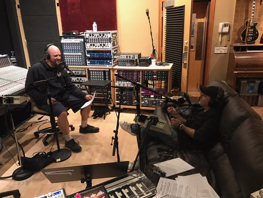 Andy Hall, Lazer 103.3 afternoon radio host, interviews