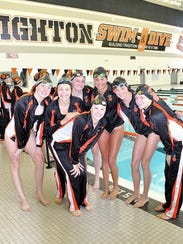 Brighton's girls' swimming team has beaten some state-ranked