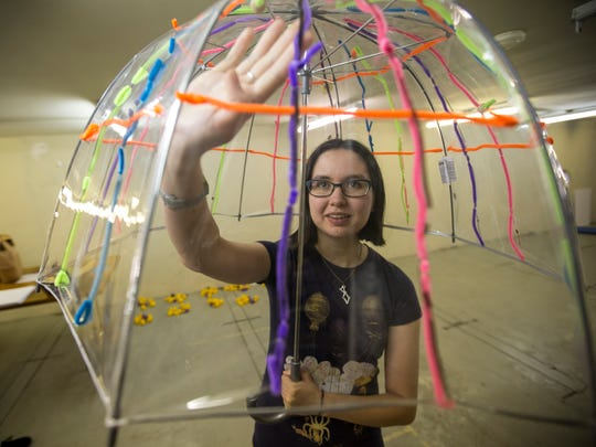 Katya Gozman, 19, a student from the University of