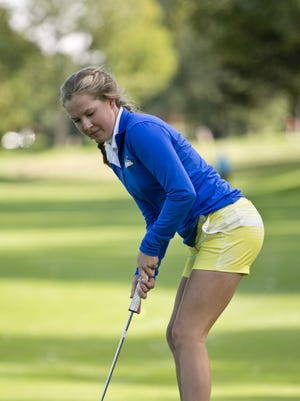 Port Huron Northern sophomore Megan Randolph putts Wednesday, September 30, 2015 at the Port Huron Golf Club.Wednesday, September 30, 2015 at the Port Huron Golf Club.