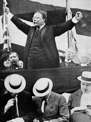 President Theodore Roosevelt made three stops in Lafayette.