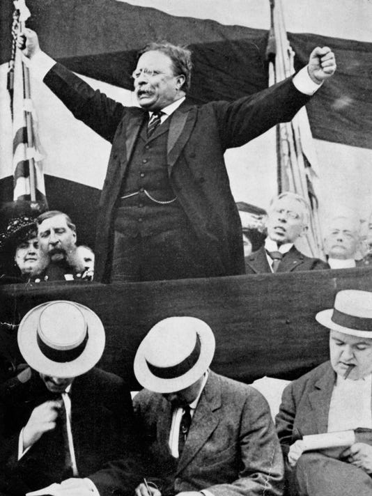 President Theodore Roosevelt making speech