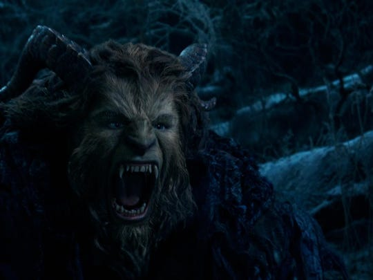 "The Beast (Dan Stevens) in Disney's ""Beauty and the Beast."""