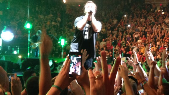 Eddie Vedder at U.S. Bank Arena on Wednesday night.
