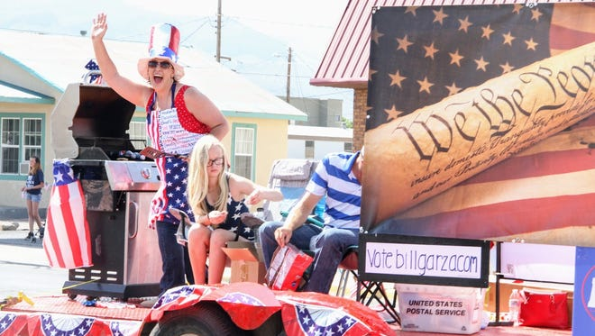 Stephanie Hale waves to the crowd during Alamogordo's Fourth of July parade in this file photo from 2017.