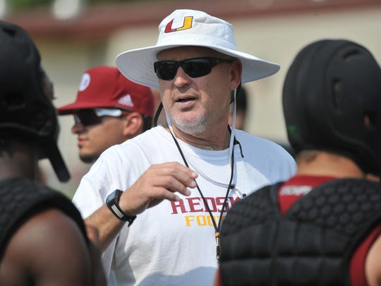 Darren Bennett has served as the Tulare Union Tribe football head coach since 1995.