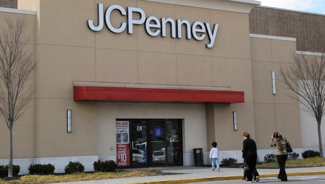 A shopper heads for the entrance to the JC Penney store at Wayne Town Center on Friday, February 24, 2017.