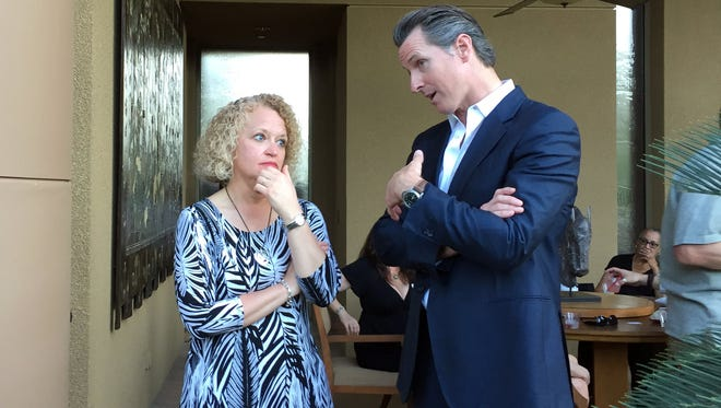 Salt Lake City mayor Jackie Biskupski and California Lieutenant Governor Gavin Newsom both spoke about fighting to protect the civil rights of the LGBT community.
