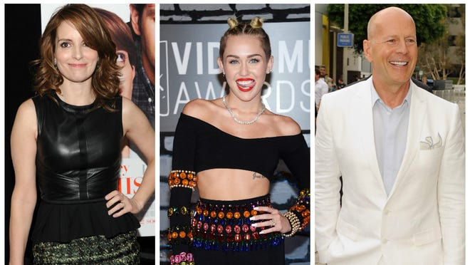 """Tina Fey, Miley Cyrus and Bruce Willis are all set to host """"Saturday Night Live"""" this season."""