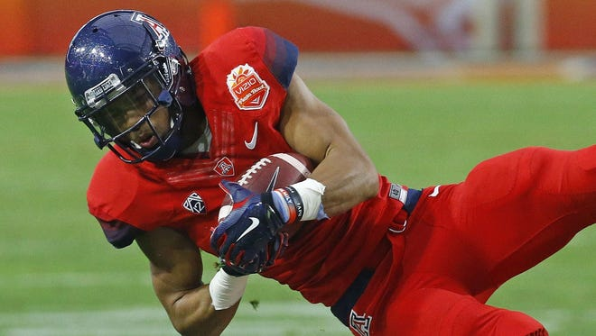 WR Trey Griffey caught 79 passes in four seasons at Arizona.