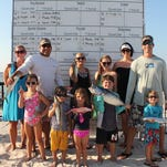 """The crew from the boat """"Endless Summer"""" with their catch at last months Pensacola Bud Light Fishing Rodeo."""