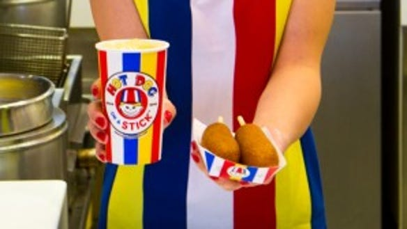 Hot Dog on a Stick is offering a free corn dog and
