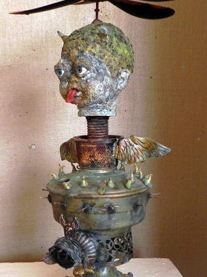 The Keep Luna County Beautiful Recycled Art Show drew a variety of work made from 90 percent recycled materials.
