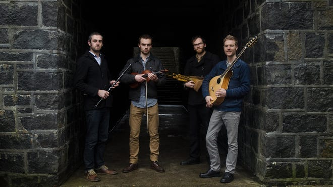 Na Rosai will play traditional Irish, Appalachian, Scottish and Breton music on fiddle, flute, uilleann pipes, bouzouki and whistles at the Second Friday Ceili at 7 p.m. Feb. 10 at the VFW Hall.