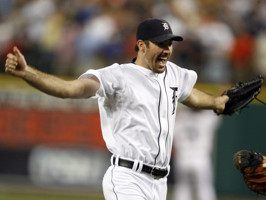 Justin Verlander pitched the first no-hitter in Comerica