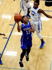 Summit Country Day guard Ravin Alexander scores on a fast break after a turnover.