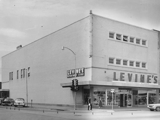 Levine's department store opened in the building at