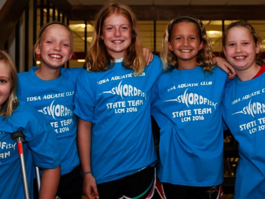 Tosa Swordfish state qualifiers (ages 9 and 10) include