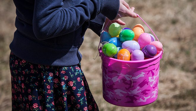 Easter basket at an Easter egg hunt