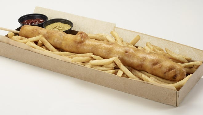 The D-Bat is an 18-inch corn dog that retails for $25 at Chase Field in Phoenix.