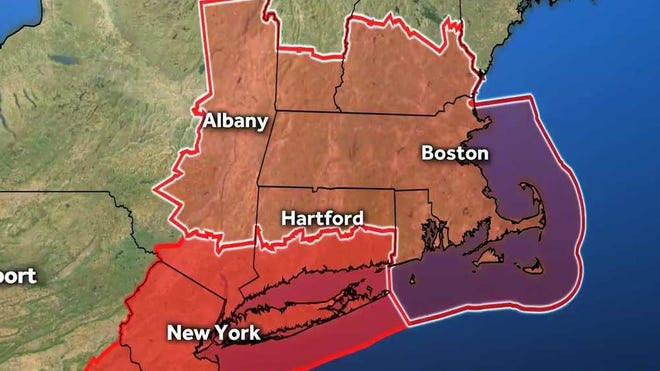 A tornado watch has been posted for Barnstable, Berkshire, Bristol, Dukes, Essex, Franklin, Hampden, Hampshire, Middlesex, Nantucket, Norfolk, Plymouth, Suffolk, Worcester and Bristol counties in Massachusetts.