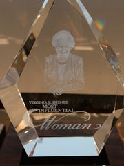 The Virginia K. Shehee Most Influential Woman award luncheon Sept. 20.