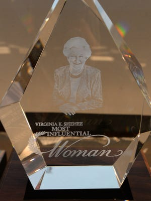 The Virginia K. Shehee Most Influential Woman award.