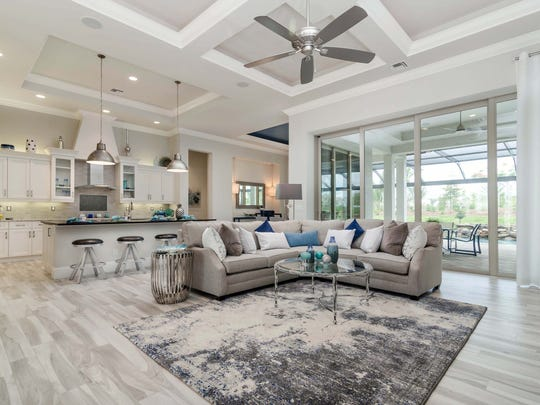 Lundstrom Development S Belvedere Great Room In Parrot Cay At Naples Reserve