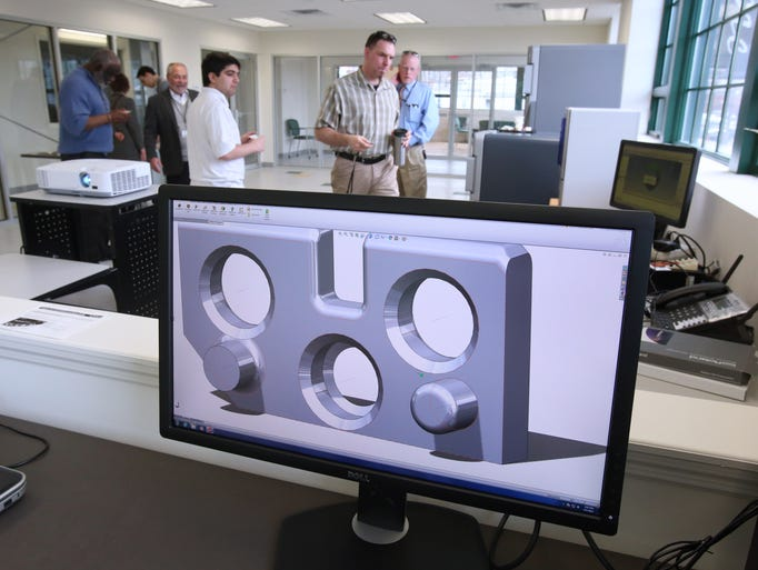Rockland Community College's 3D printing lab at the college's Haverstraw extension campus April 1, 2014.