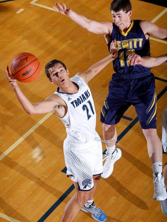 DeWitt at East Lansing boys basketball