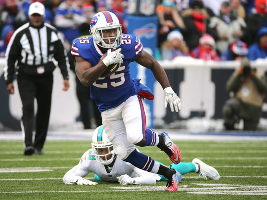 Bills running back LeSean McCoy rushed for 50-yards and two touchdowns against Miami.