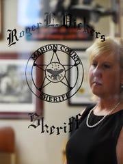 Joan Vickers was sworn in as the 35th sheriff of Marion County on Monday following husband Roger Vicker's recent death. Roger Vickers had served as sheriff since 2009.