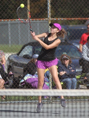 Lexington's Katie Volz finished third in the Division II sectional tennis tournament to move on with three of her teammates to districts.