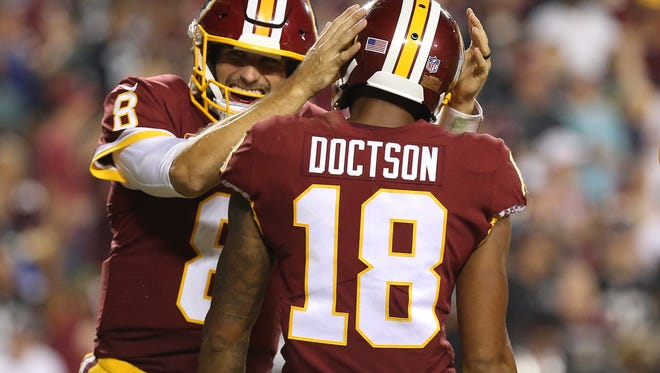 Washington QB Kirk Cousins tossed three touchdown passes Sunday night in a 27-10 win over the Raiders.