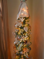 Every room adorned with trees. Best friends Janet Forrer
