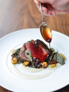 As with this venison entree, Spoon and Stable cuisine melds hearty Minnesota food traditions with the fine French cooking style Kaysen honed working in Europe and New York City.