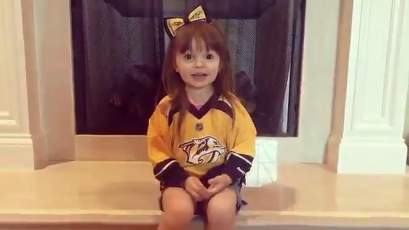 Young Predators fan shares message for team, fans in viral ...