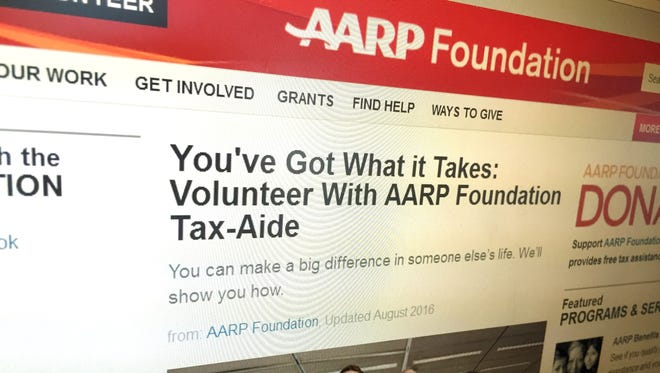 The AARP Foundation website, in a screenshot taken in mid-September 2016 indicates the need for volunteers to help with tax preparation.