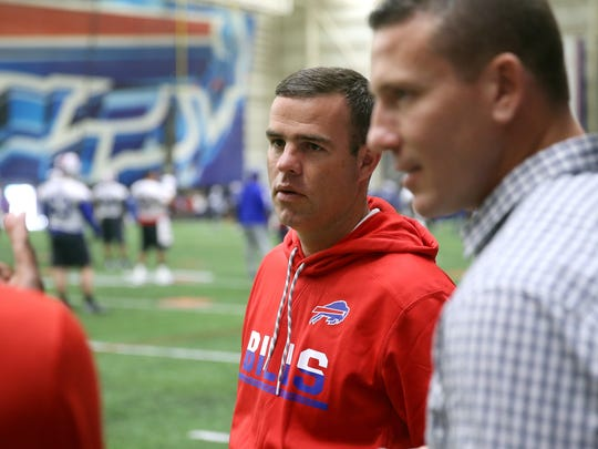 Brandon Beane joined the Bills just after the conclusion of the NFL Draft in May. He likes his quarterbacks, led by Tyrod Taylor, but he also likes knowing he has two No. 1 picks next year in a class deep at the position, led by USC's Sam Darnold.