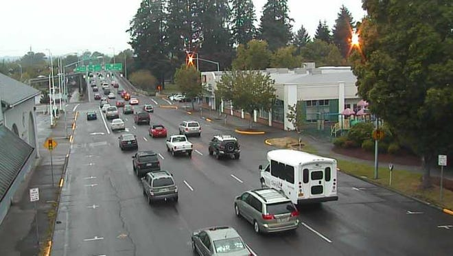 Image taken from a City of Salem traffic camera at Liberty and Marion streets NE.
