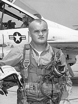 Lt. Michael Allard, shown in his flight uniform shortly before his death, went down with his plane during the Vietnam War in August 1967.