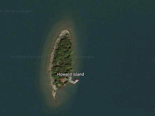 Howard Island is in Lake Huron, east of Michigan's