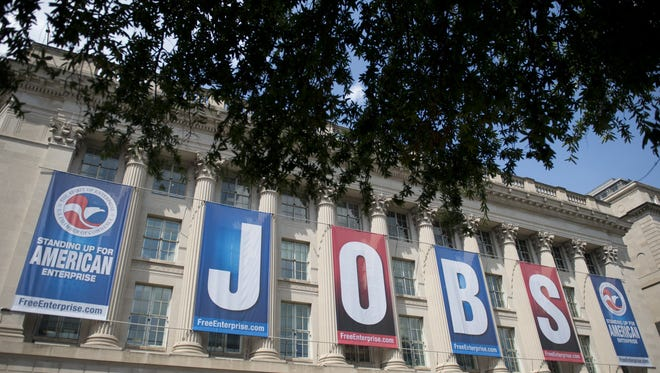 Economists estimate employers added 183,000 jobs in July. The Labor Department's report is due out Friday.