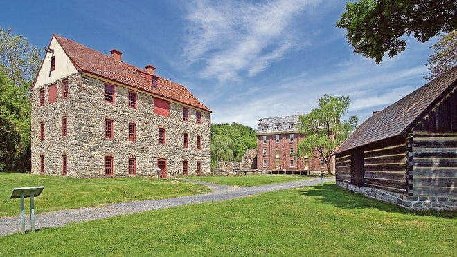 The 1761 Tannery, 1869 Luckenbach Mill and the Springhouse (reconstructed in the 1970s) are located in the Colonial Industrial Quarter in Bethlehem, Pennsylvania.