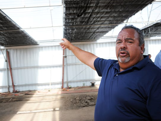 Riverview Farms owner Mike Hackett explains how the