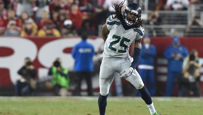 Seattle Seahawks cornerback Richard Sherman.