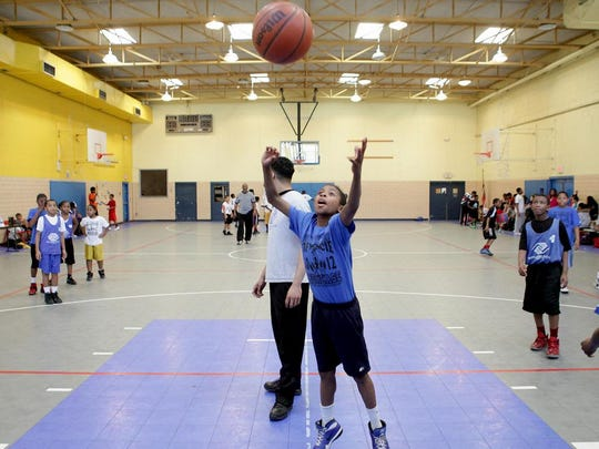 "Players warm up during a basketball tournament at the Boys and Girls Club in 2016. The ""Yes! I Can!"" program will have similar fitness games, starting Monday, Feb. 10, 2020."