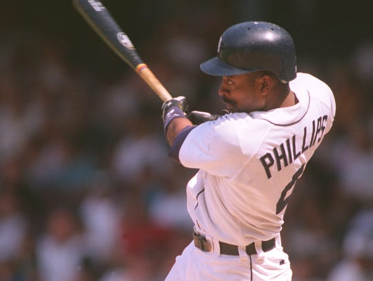 Tony Phillips belts an eighth-inning home run against the Twins on June 5, 1994.
