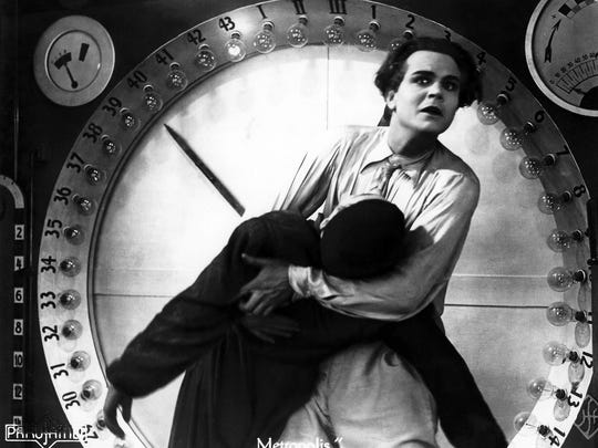 "A scene from ""Metropolis"" by Fritz Lang."