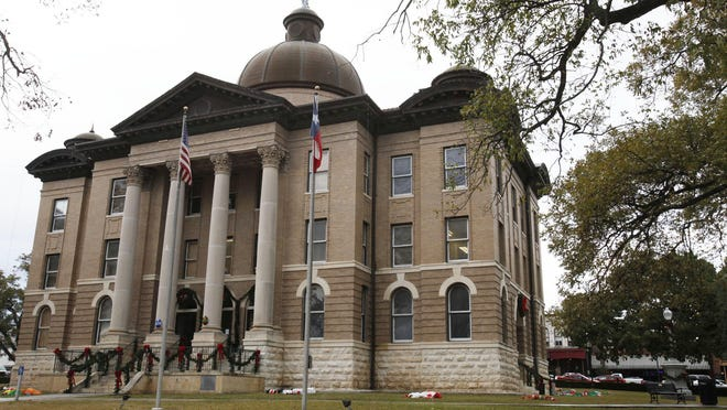 The Hays County Courthouse on the square in downtown San Marcos. A majority of the Commissioners Court seats are up for grabs in the Nov. 6 election.